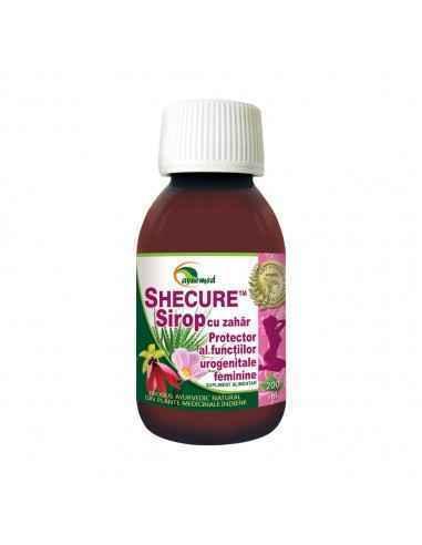 SHECURE SIROP - Protector al functiilor urogenitale feminine Ayurmed