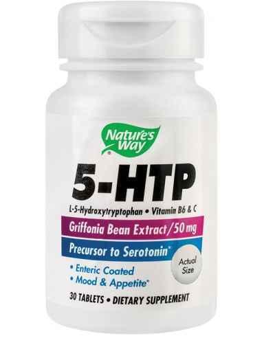 5-HTP 30 tablete Secom, 5-HTP 30 tablete filmate gastrorezistente Nature's Way Aminoacid cu rol esential in producerea serotonin