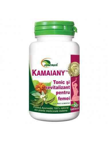 KAMAIANY Revitalizant natural pentru femei 50 tablete Ayurmed Regleaza ciclul menstrual, normalizeaza fluxul sanguin menstrual,