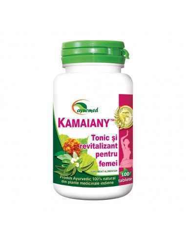 KAMAIANY Revitalizant natural pentru femei 100 tablete Ayurmed Regleaza ciclul menstrual, normalizeaza fluxul sanguin menstrual