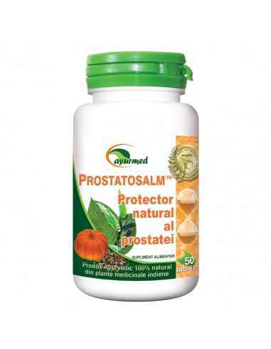 Prostatosalm 50 tablete Ayurmed Protector natural al prostatei Contribuie la reducerea manifestarilor neplacute cauzate de cre