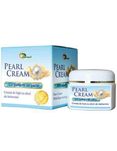 Pearl Cream - Crema de fata antirid Ayurmed Crema de fata hidratanta, antirid, cu pulbere de perle si compusi vegetali activi,