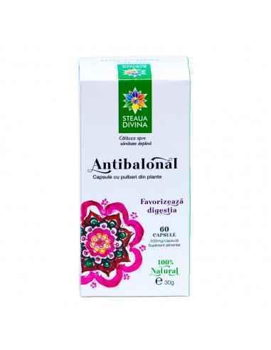 Antibalonal 60 capsule Steaua Divina Antibalonal capsule favorizează digestia.