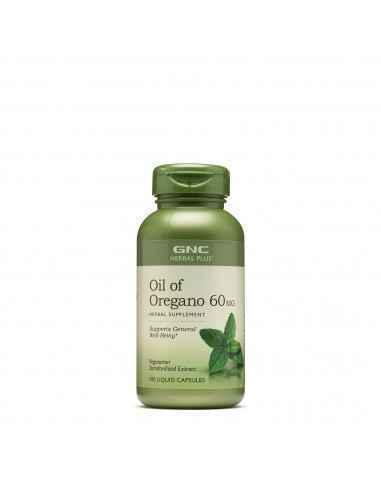 GNC Herbal Plus® Ulei de Oregano 60 mg Principala substanta care ii ofera aceasta actiune uleiului de oregano, este carvacrol