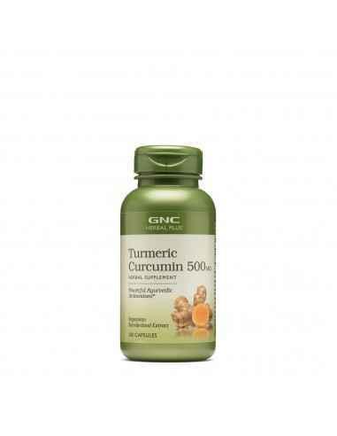 GNC Herbal Plus® Turmeric Curcumin 1000 Mg Turmericul poate neutraliza activitatea daunatoare a radicalilor liberi prin puterni