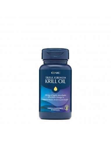 GNC Triple Strength Ulei de Krill Uleiul de krill contine in mod natural o sursa de Omega-3 foarte puternic absorbabila oferind