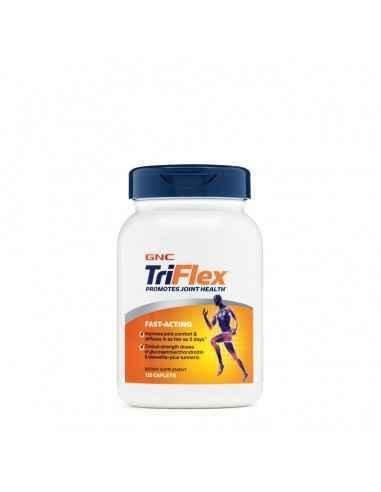 GNC TriFlex™Fast-Acting  GNC TriFlex ™ cu actiune rapida contine ingrediente ce ajuta la sustinerea articulatiilor sanatoase.