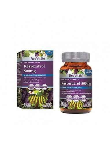 ResVitale™ Resveratrol 500 mg ResVitale®, liderul in topul producatorilor de Resveratrol, ofera o formula antioxidanta distinct