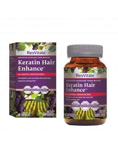 RESVITALE ™ Keratin Hair Enhance™ cu Biotina si Resveratrol Produsul furnizeaza un tip de keratina patentata, care este procesa