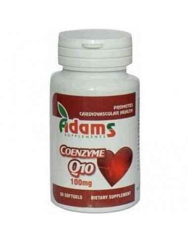COENZIMA Q10 100MG 30CPS Adams Vision Antioxidant puternic pentru functionarea normala a inimii si a sistemului cardiovascular.