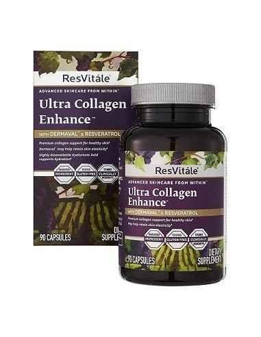 ResVitale ™ Ultra Collagen Enhance ™ BioCell Collagen® ajuta la umplerea celulelor de colagen vitale pentru a netezi aspectul l