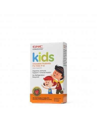 GNCMilestones™ Probiotice Masticabile Pentru Copii Intre 4 si 12 Ani De de ce GNC Milestones™ Probiotice Masticabile? Deoarec