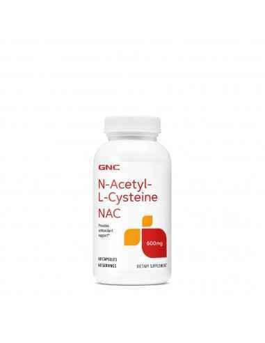 GNC N-Acetyl-L-Cysteine NAC 600 mg GNC N-Acetyl-L-Cysteine NAC 600mg este un supliment alimentar cu rol antioxidant si detoxifi