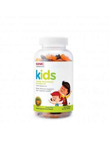 GNC Milestones® Kids Multivitamin Gummy, Multivitamine Pentru Copii 2-12 Ani Formula complexa cu multivitamine sub forma de jel