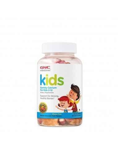 GNC Milestones™ Kids Calciu Jeleuri pentru Copii 2-12 ani Avem o singura sansa sa construim oase puternice - cand suntem copii