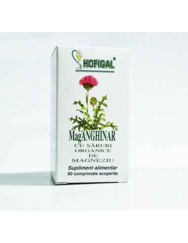 Mag-Anghinar 60 cprHofigal Asigura aportul de substante bioactive pentru suplimentarea dietei in toate cazurile in care este ne
