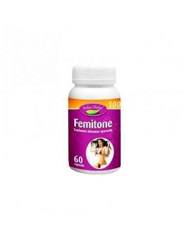 Femitone 60 capsule Indian Herbal, Femitone 60 capsule Indian Herbal Femitone este un produs special conceput pentru a asigura