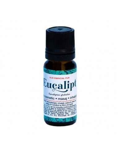 Ulei esential EUCALIPT 10 ml Steaua Divina Uleiul de Eucalipt se obține prin distilare cu vapori din frunzele recoltate de pe r