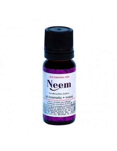 Ulei esential NEEM 10 ml Steaua Divina Originar din Asia de Sud cultivat atat pentru valoarea sa ornamentala cat si pentru cea