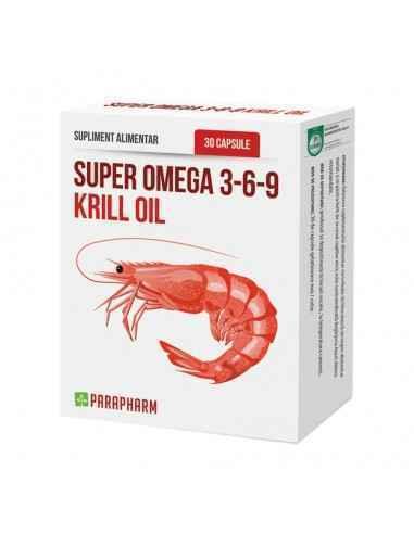Super Omega 3-6-9 Krill Oil 30 capsule Parafarm, Super Omega 3-6-9 Krill Oil 30 capsule Parafarm Uleiul obținut din crustacee an