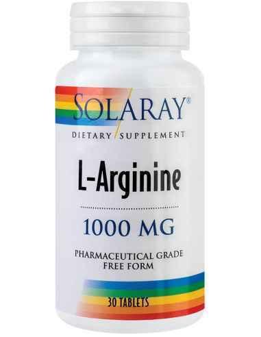 L-Arginine 1000mg 30 tablete Solaray, L-Arginine 1000mg 30 tablete Solaray Contribuie la protectia functiilor hepatice, cardiova
