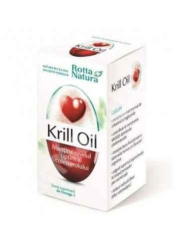 Krill Oil 30 capsule Rotta Natura, Krill Oil 30 capsule Rotta Natura Krill Oil, cunoscut si ca Ulei de creveti este noua generat