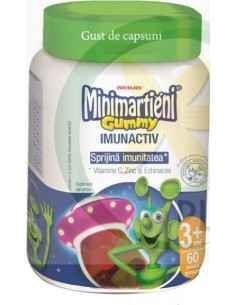 Minimarţieni Gummy cu Echinacea 60 jeleuri aroma capsuni Walmark