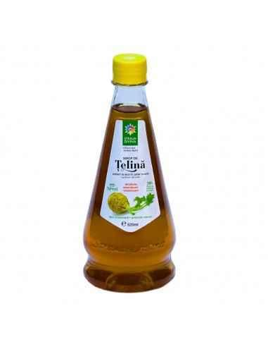 Sirop TELINA 520 ml Steaua Divina Sirop din radacina proaspata de telina. Telina contine vitaminele D C E B1 B2 B3 si substante