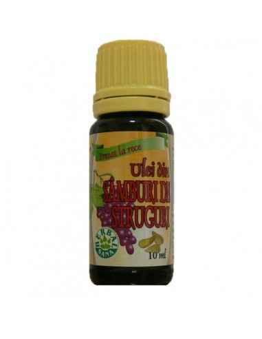 Ulei din Samburi de Struguri Stimulează regenerarea celulară, are efect antioxidant, dermonutritiv şi emolient. Fiind un ulei cu