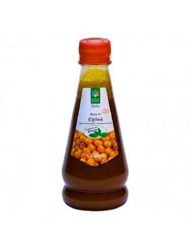 Sirop de CATINA cu STEVIE 250 ml Steaua Divina Fructele de catina sunt printre mai puternice vitaminizante din flora tarii noa