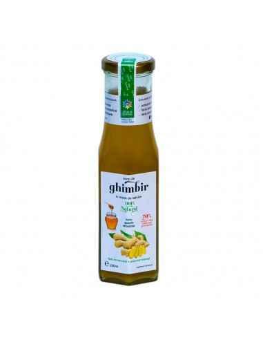 Sirop de GHIMBIR cu miere 230 ml Steaua Divina Produsul păstrează integral substanțele bioactive și însușirile benefice ale răd
