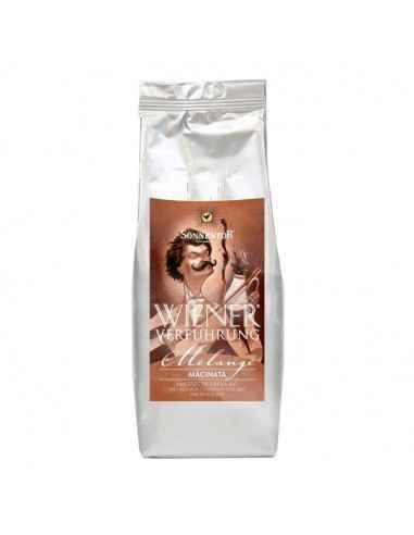 Cafea Melange Macinata Bio 500g Sonnentor Cafea Ispita Vieneza Melange macinata.Amestec din boabe de cafea Arabica BIO de cali