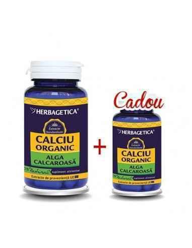 Calciu Organic 60cps+10cps Cadou Herbagetica