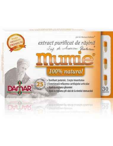 Mumie Extract Purificat de Rasina 30 capsule Damar, Mumie Extract Purificat de Rasina Rășina Mumie este cunoscuta și utilizată