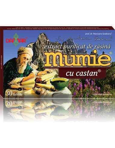 Mumie Extract Purificat de Rasina cu Castan  30 tablete Damar, Mumie Extract Purificat de Rasina cu Castan Un complex 100% natur