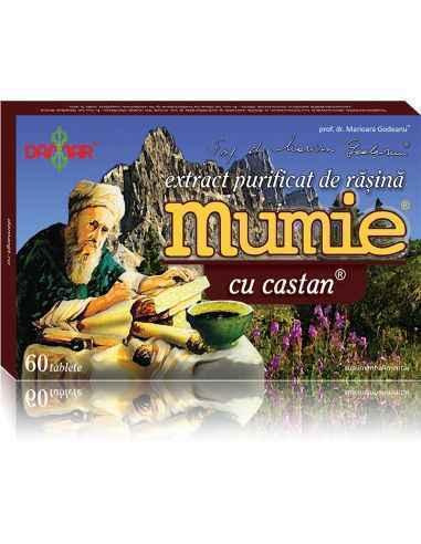 Mumie Extract Purificat de Rasina cu Castan  60 tablete Damar, Mumie Extract Purificat de Rasina cu Castan Un complex 100% natur