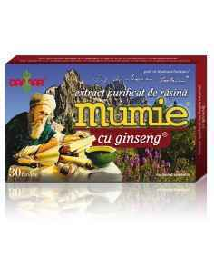 Mumie Extract Purificat de Rasina cu Ginseng 30 tablete Damar