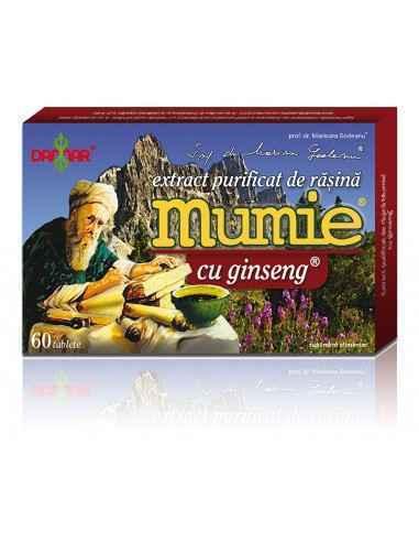 Mumie Extract Purificat de Rasina cu Ginseng Combinatie unica de Rasina Mumie si Ginseng utila in peste 50 de afectiuni.
