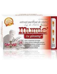 Mumie Extract Purificat de Rasina cu Ginseng 30 capsule Damar