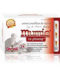 Mumie Extract Purificat de Rasina cu Ginseng 60 capsule Damar
