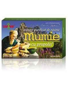 Mumie Extract Purificat de Rasina cu Propolis 30 tablete Damar