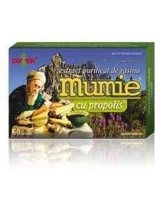 Mumie Extract Purificat de Rasina cu Propolis 60 tablete Damar