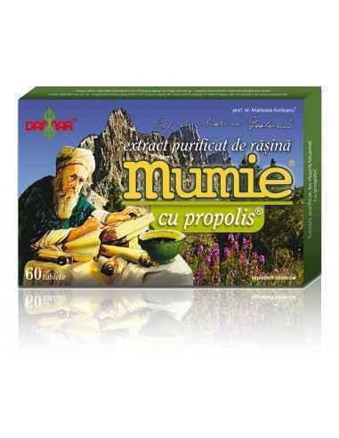 Mumie Extract Purificat de Rasina cu Propolis 60 tablete Damar, Mumie Extract Purificat de Rasina cu Propolis Un complex naural