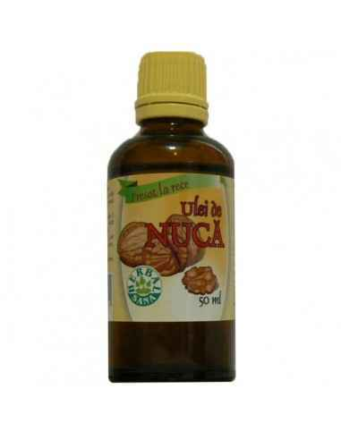 Ulei de nuca - presat la rece 50 ml Herbavit, Ulei de nuca - presat la rece 50 ml Herbavit Este eficient in curele de protectie