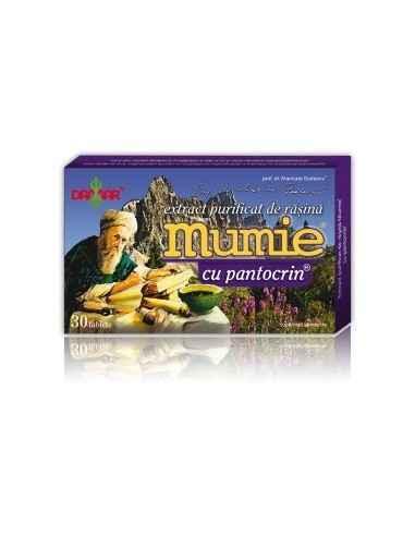 Mumie Extract Purificat de Rasina cu Pantocrin 30 tablete  Damar, Mumie Extract Purificat de Rasina cu Pantocrin Un complex 100%