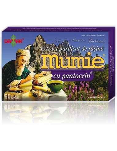 Mumie Extract Purificat de Rasina cu Pantocrin Un complex 100% natural, care inglobeaza intr-un singur produs efectele benefice