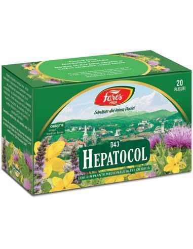 Ceai Medicinal Hepatocol 20 plicuri Fares Susţine funcţionarea sănătoasă a ficatului si ajuta la protejarea ficatului faţă de a