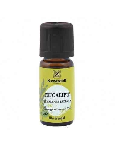 Ulei Esential Eucalipt BIO Sonnentor Ulei esential de eucalipt obtinut prin distilarea frunzelor arborelui de eucalipt.