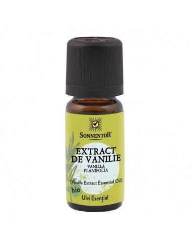 Ulei Esential Vanilie Bio Sonnentor  Un ulei esential de vanilie cu efect liniștitor, balsamic. Se poate utiliza și pentru uz