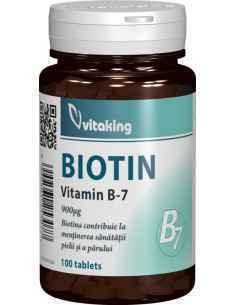 Vitamina B7 (Biotina) 100 comprimate Vitaking